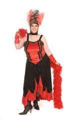 Red Showgirl Costume Plus Size